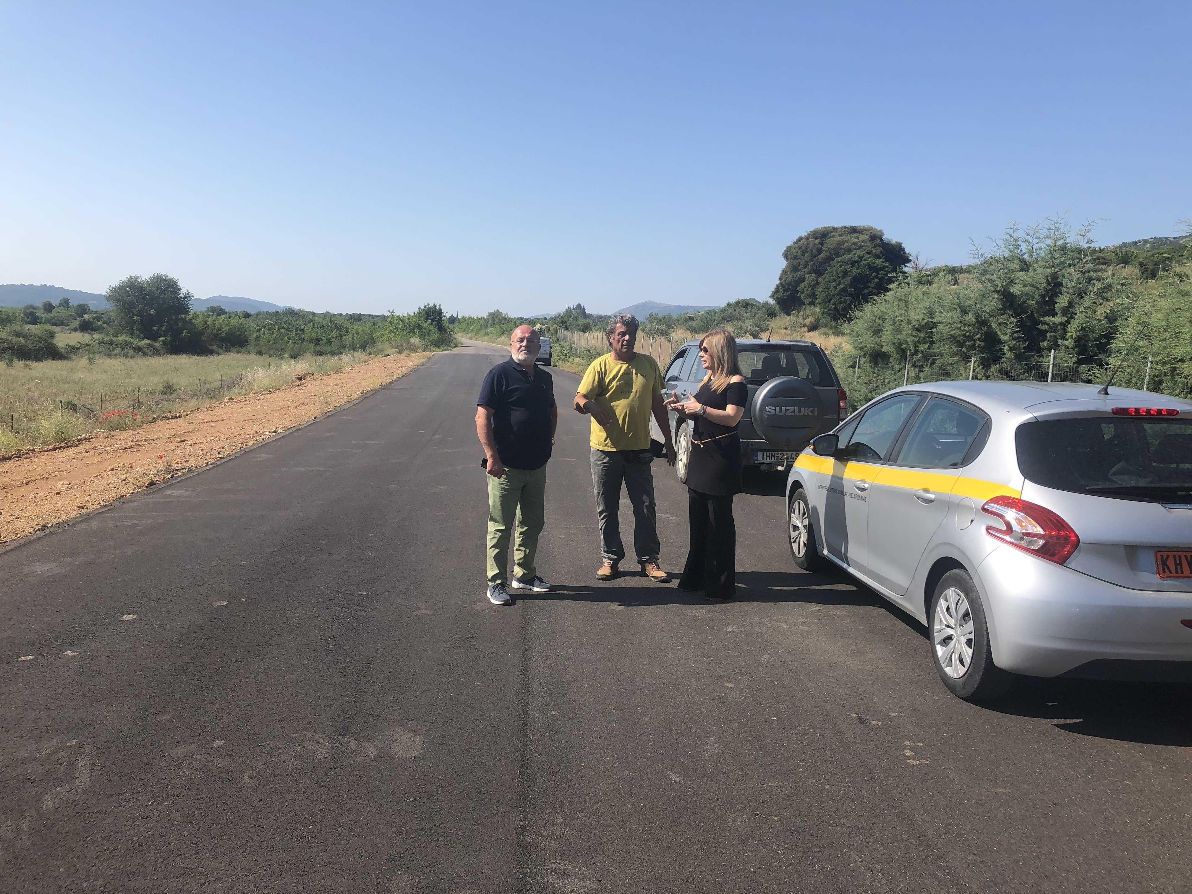 Η Αντιπεριφερειάρχης κ. Χριστίνα Σταρακά σε έργα που εκτελούνται στην ευρύτερη περιοχή της πρώην επαρχίας Ξηρομέρου